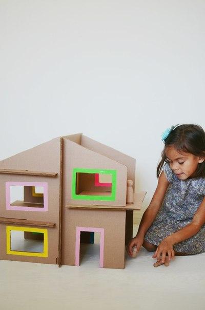 Кукольный домик из картона 9