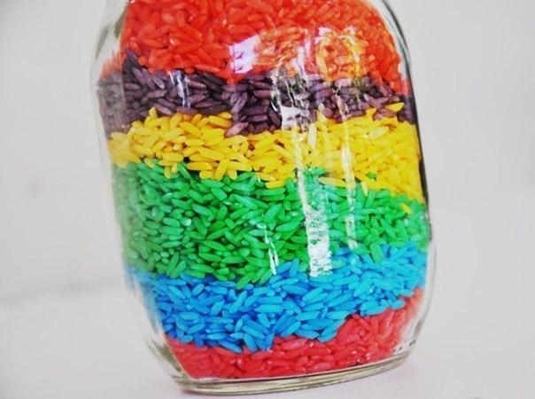 Цветной рис для детских игр 1