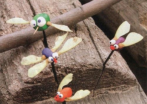 Поделки насекомые своими руками из природных материалов