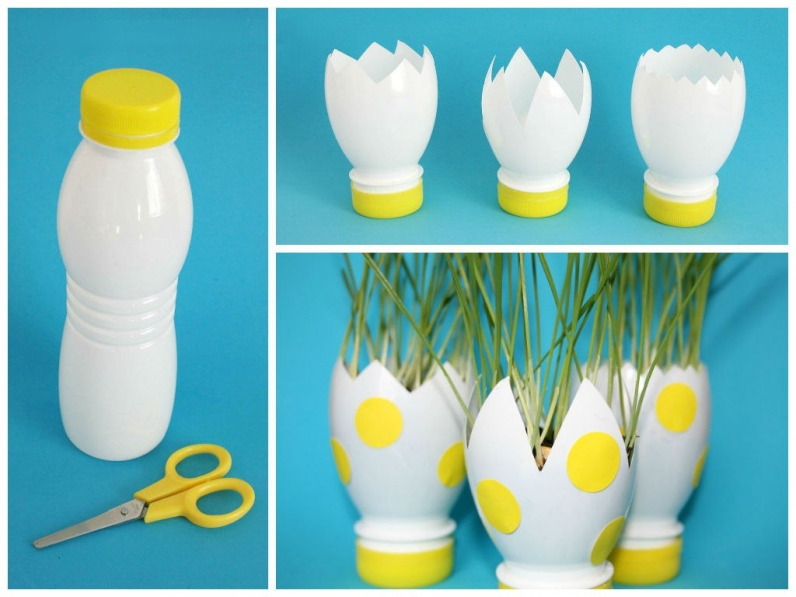 Пасхальные поделки из пластиковых бутылок