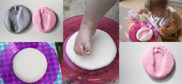 Как сделать отпечатки ручек и ножек малышей