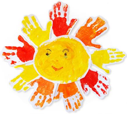 Солнышко своими руками из ладошек