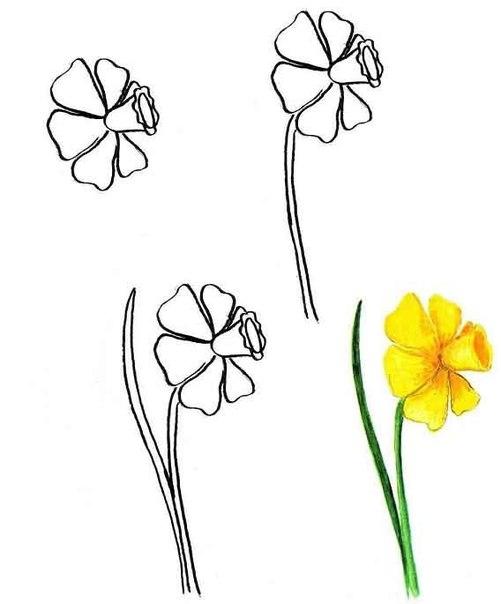 Как сделать цветы на рисунке