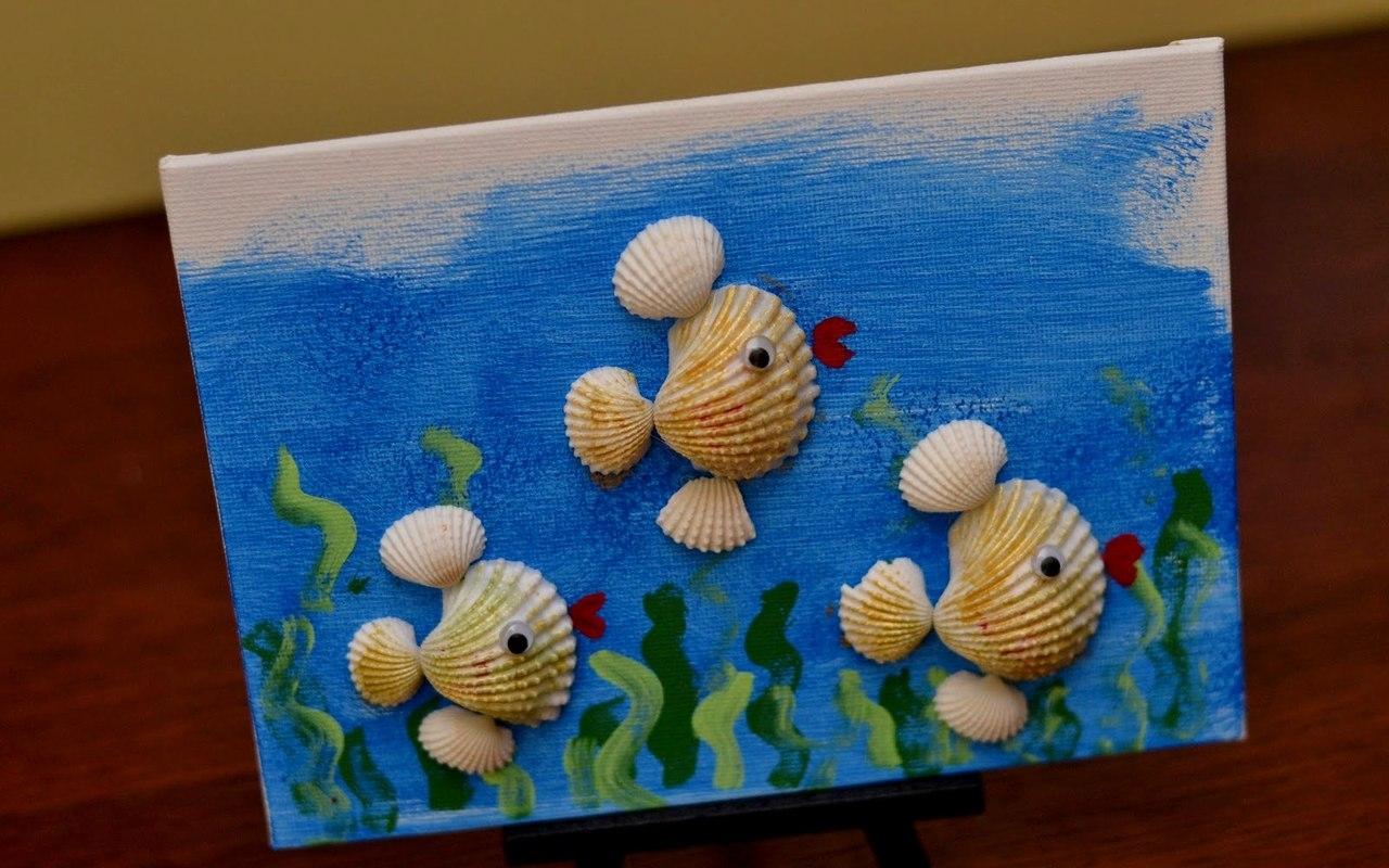 Поделка из ракушек морских