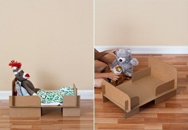 Кроватка из картона своими руками фото