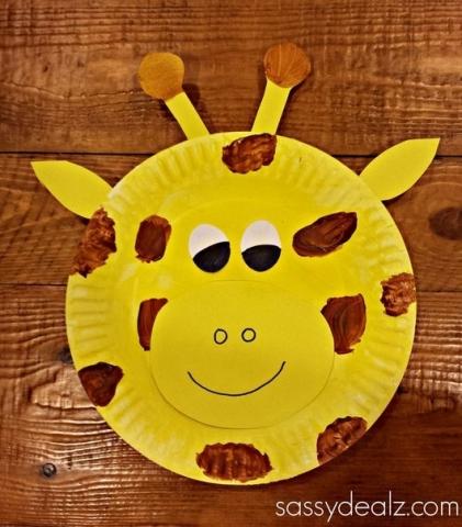 Поделки для детей 5-6 лет из бумажных тарелок 57