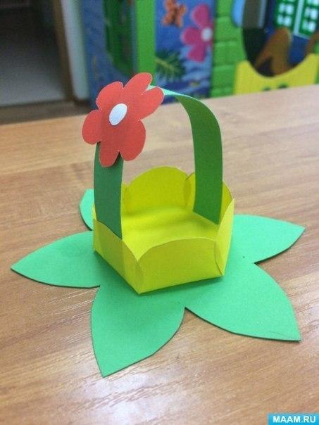 Корзинка с цветочком