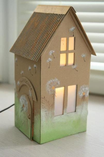 Поделки для детей из картонных коробок :)