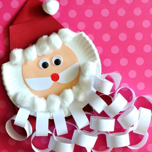 Дед мороз из одноразовой тарелки