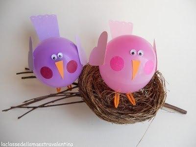 Птички из воздушных шариков