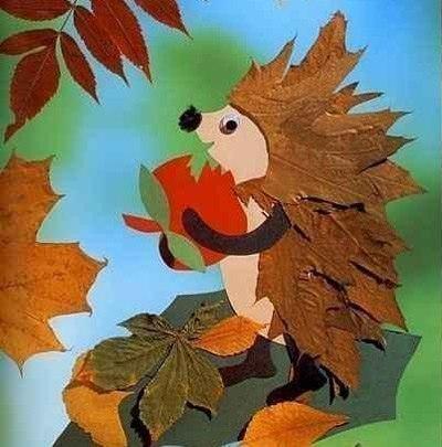 Аппликация из листьев