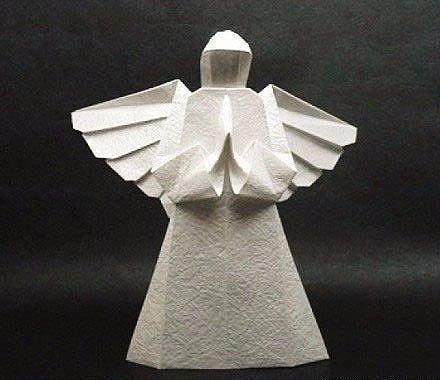 Бумажный ангел в технике оригами