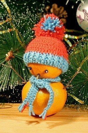 Мандариновые снеговики!