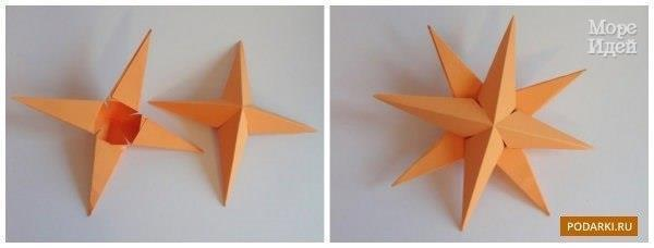 Объемная звездочка