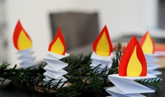 свечи из бумаги.