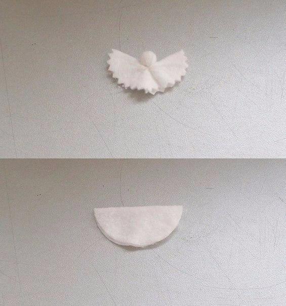 Ангелочки из ватных дисков