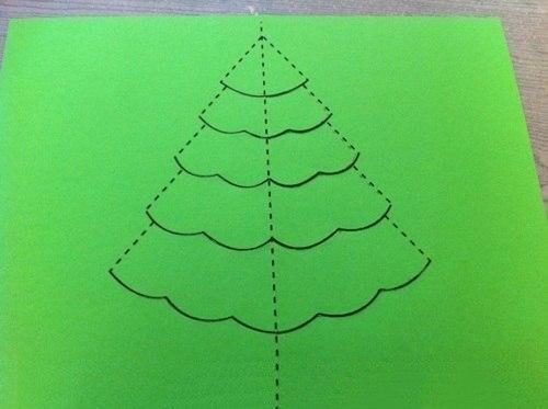 Новогодняя открытка из бумаги