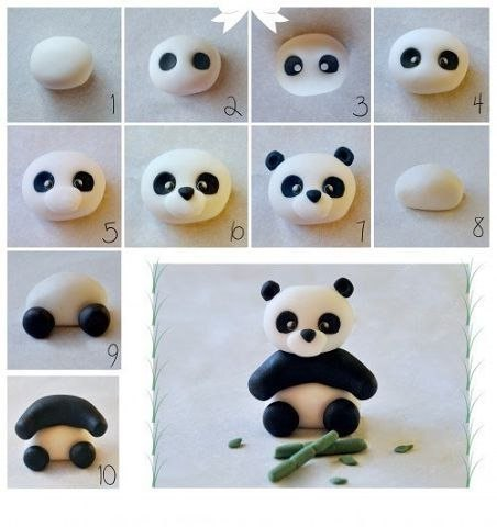 Лепим панду