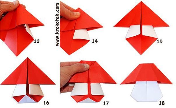 Грибы-оригами