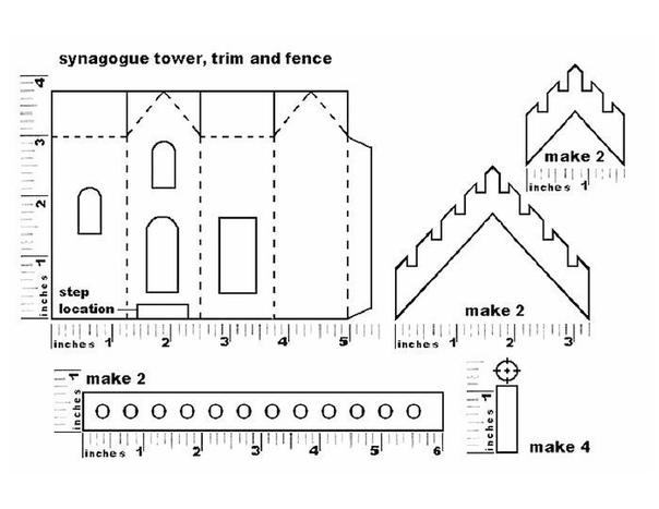 Новогодние домики. шаблоны