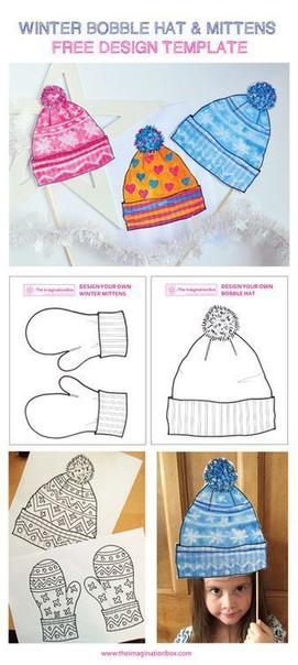 Зимние поделки «шапочки и варежки»