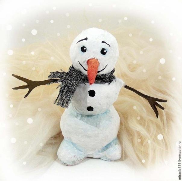 Снеговик из папье-маше