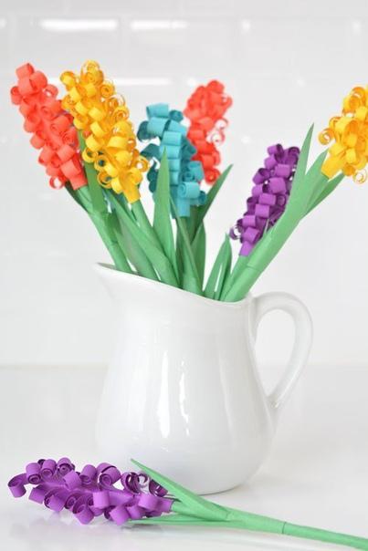 Поделки вместе с детьми: создаём весенние цветочки из бумаги