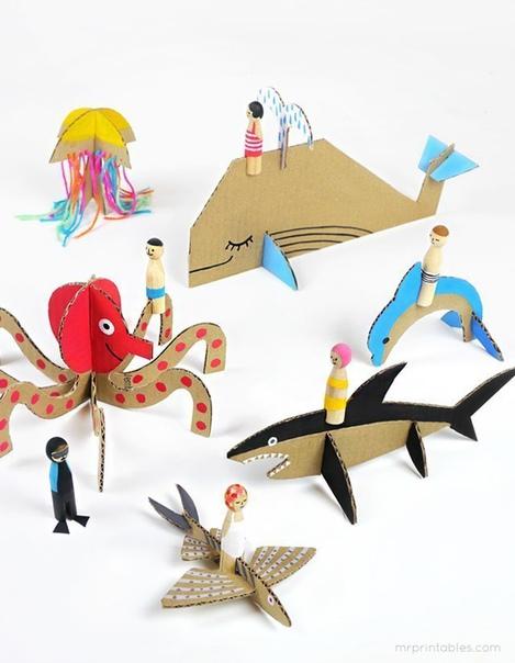 Игрушки из картона