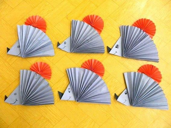 Аппликации из бумажных гармошек