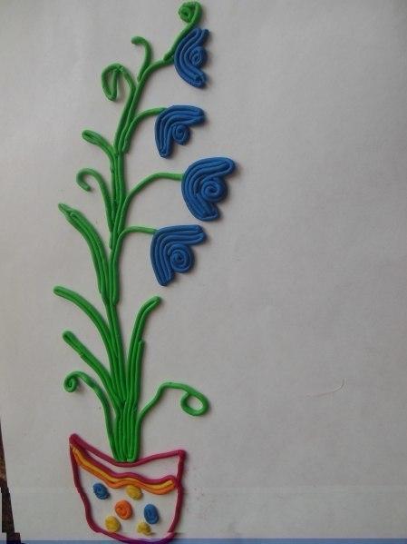 Пластилиновая живопись из шприца