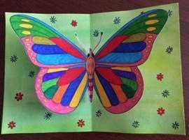 Объемная открытка «бабочка»