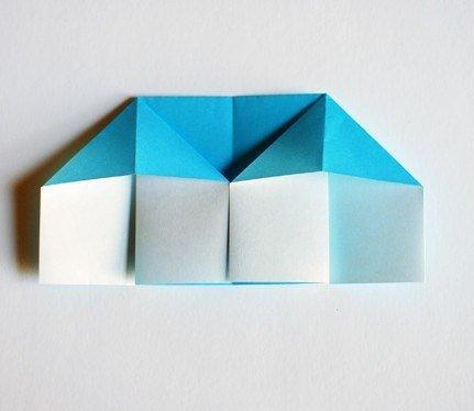 """Оригами """"домик"""" можно сделать из простой бумаги"""
