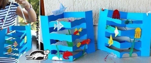 """Поделка """"синее море"""""""