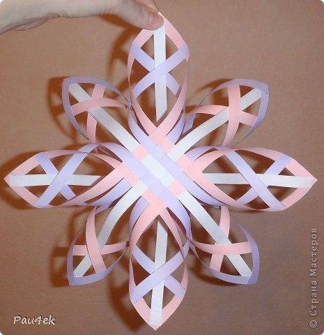 Красивая снежинка из бумажных полосок от pau4ek