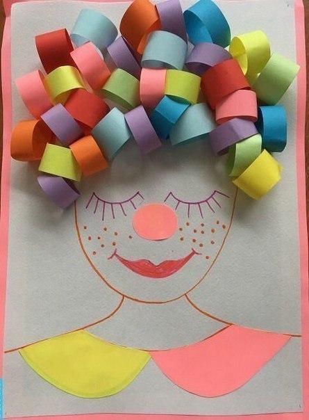 """Творческое занятие для малышей """"аппликации с бумажными полосками"""""""