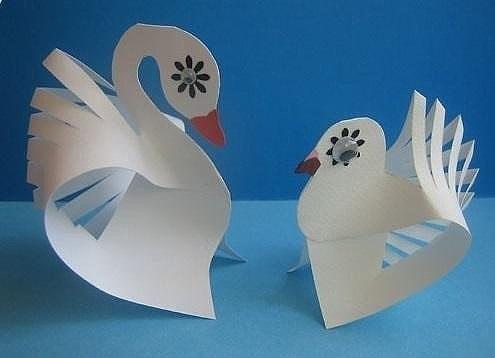 """Поделка """"лебеди"""""""