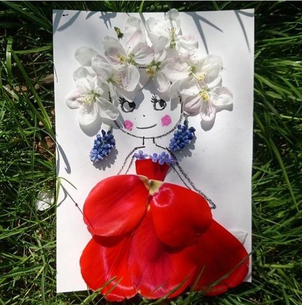Поделки из природного материала. цветочная фея