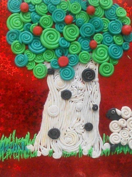 """Творческое занятие с детьми """"пластилиновые картины"""""""