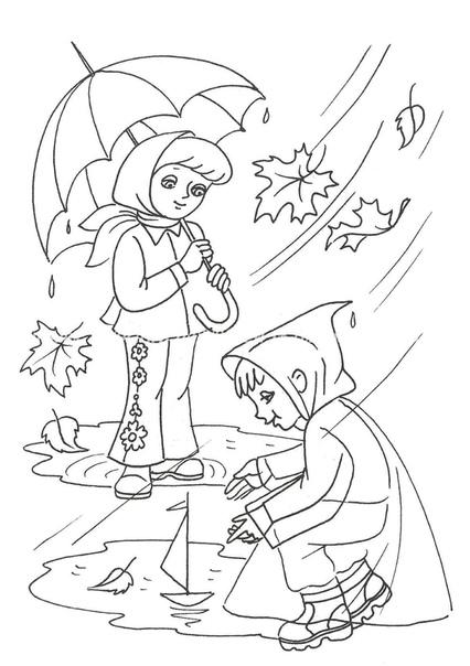 "Раскраски на тему ""осень"""