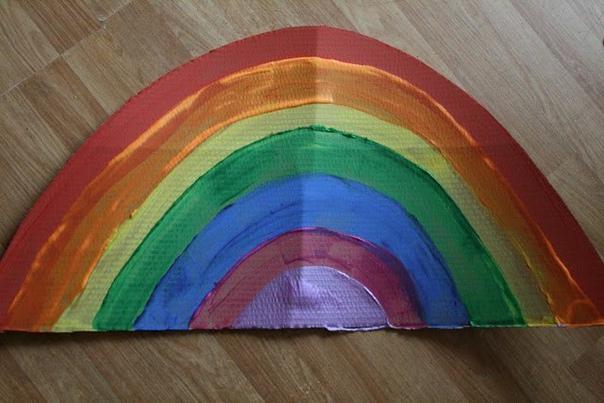 """Поделка """"радуга"""". учим цвета"""