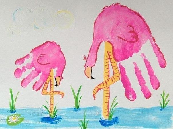 Рисунки из ладошек
