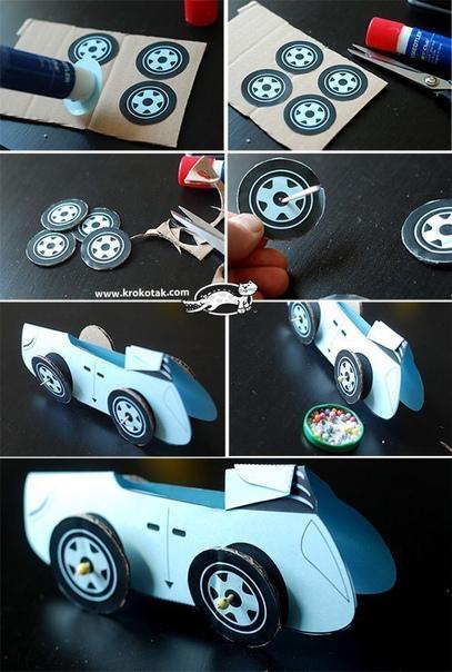 Машинка из бумаги