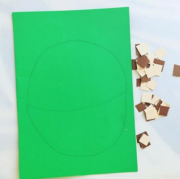 Осенние поделки из бумаги. корзинка с грибами