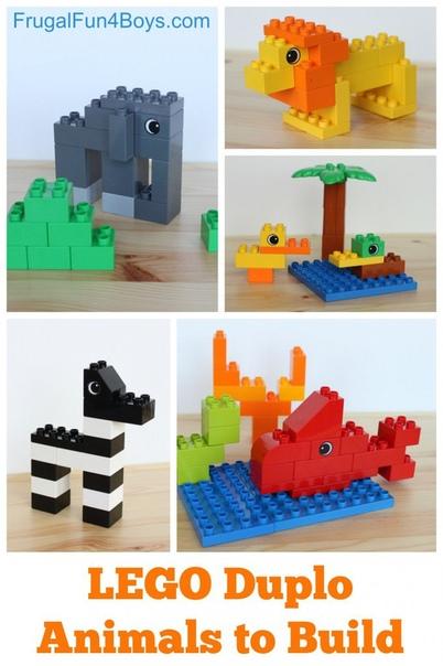 """Схемы к лего """"зоопарк"""""""