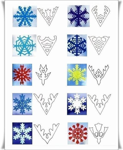 Заготавливаем шаблоны снежинок к новому году!