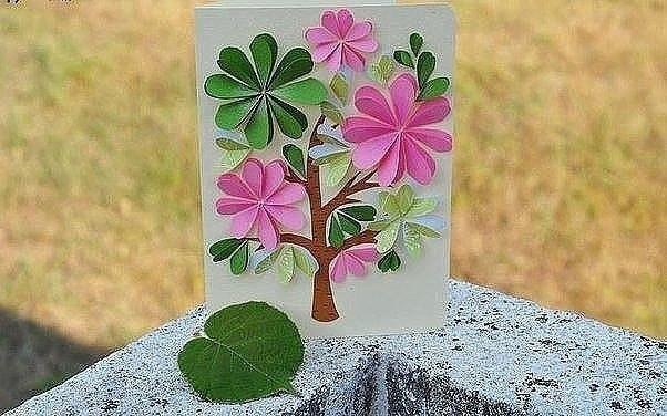 Цветочная открытка.
