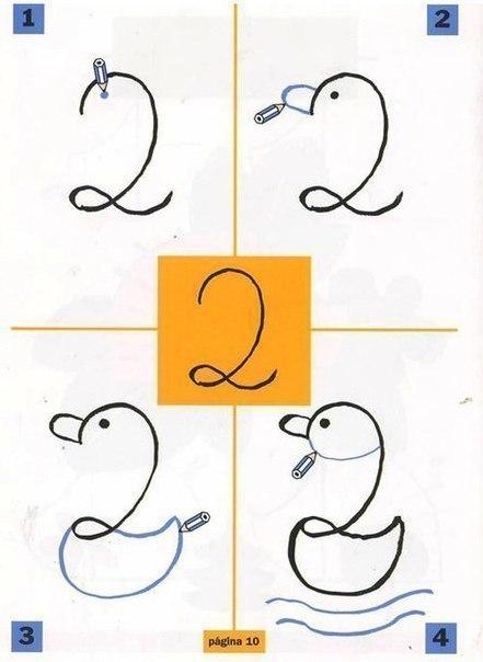 Необычное рисование с помощью цифр