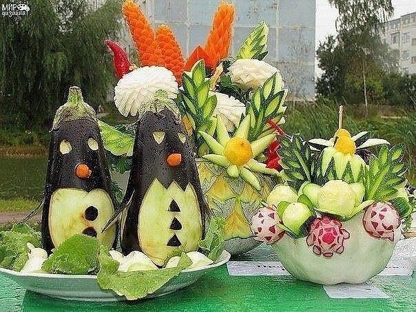 Оригинальные поделки из овощей.