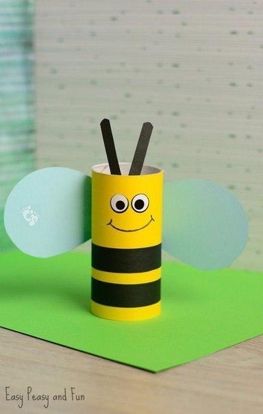 Пчелка из картонного рулона