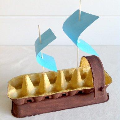 Корабль из картона своими руками